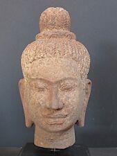 Tête de Bouddha Khmer en Grès du CAMBODGE