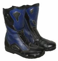 """ RAD MASTERS "" Herren- Motorradstiefel / Biker - Stiefel schwarz- blau ca. 42,5"