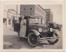 1923 Buick 4 Door Sedan Woman Hanlon Nebraska Hotel Herfurth Planing Mill Photo