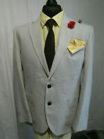 Marks & Spencer 2 Button Regular Fit Linen Blend Jacket Size 40S