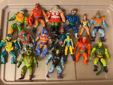 Vintage MOTU He-Man Figure Lot Of 15 Original W/ Some Accessories