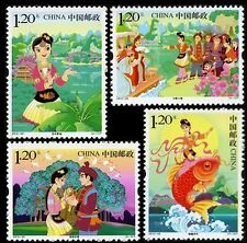 2012-20 Chinese stamps folklore - Third Sister Liu MNH