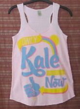 ALTERNATIVE EARTH NWOT Size M Pink, Only Kale Can Save Us Now Tank Top, Yoga