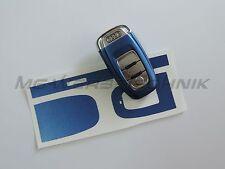 3A_Schlüssel-Dekor Aufkleber für Audi A4 A5 A6 Q5 blau metallic matt