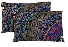2 PC Pillow Case Cotton Indian Handmade Mandala Cushion Cover Shams Ethnic Decor