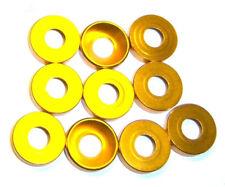 203000061 5mm M5 doré Alliage Aluminium Rondelle En Nylon x 10