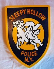 Police Sleepy Hollow New York 3D  routed custom wood Patch  Sign Custom