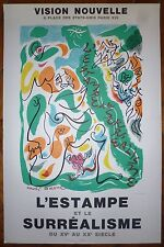 André Masson affiche lithographie surréalisme Mourlot Sorlier art abstrait
