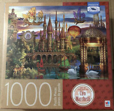 Fantasy Parorama Castle Jigsaw Puzzle 1000 Piece Milton Bradley