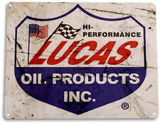 TIN SIGN: PGB237 Lucas Oil Products Tin Metal Sign Gas Station Garage Auto Shop