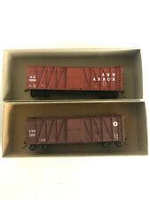 HO SCALE ACCURAIL - 2 BOX CARS - ANN ARBOR AND LNE