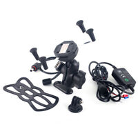 Navigation Phone Holder Charger For KAWASAKI ER-6N VERSYS-X 300/650/1000 W 800