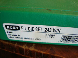 RCBS 243 WIN 2 die set