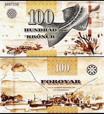 FAROE ISLANDS 100 KRONUR 2011 2012 UNCIRCULATED P.30