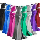 Satin Mermaid Women Bridesmaid Formal Dresses Long Beaded Party Evening Gown New