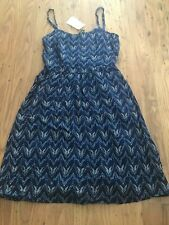 WOMENS H&M BLUE MINI DRESS size 8 NEW
