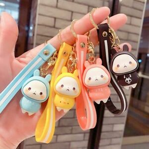 Cute Rabbit Doll Keychain Pendant Personality Car Chain Ring Ornaments Gift UK
