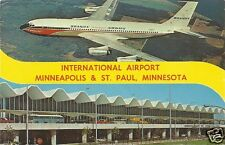 Org Vintage 1960s PC- St Paul Minneapolis Airport- MN- Airliner- Braniff Airwway