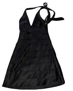 New Look Black Satin Dress Size 8 Halter Neck  NEW