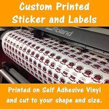 Custom Printing Vinyl Stickers / Labels Decals Contour Cut to any Shape and Size