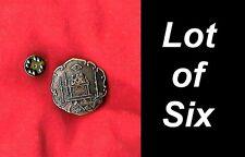 LOT 6 Blue Lodge Masonic Square Compass Working & Tools Freemason Lapel Pin hat