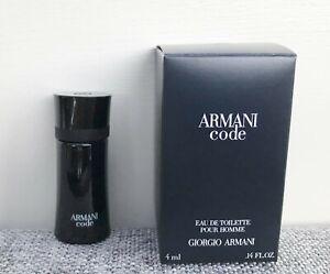 GIORGIO ARMANI Armani Code Eau de Toilette Pour Homme mini for men, 4ml, BNIB