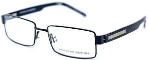 Porsche Design P8205 BLK Black Rectangular Full Rim Eyeglasses 53-17-140