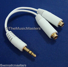 3.5mm Stereo Headphone Male to 2 Female 1-2 Y Splitter Audio Adapter Cable VWLTW