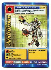 Tb-08 Andromon Digimon Taco Bell Promo Card TCG Rare Digi-Battle Bandai