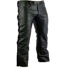 pantalon en cuir homme avec lacet NEUF ( moto biker gothique ) leather pants
