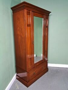 An Antique Victorian Mahogany Single Wardrobe ~Delivery Available~