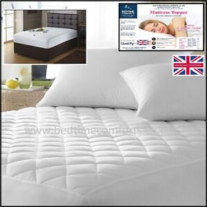 """3' 6"""" (42"""") SUPER SINGLE """"QUILTED"""" Mattress TOPPER (boxed skirt) VARIOUS LENGTHS"""