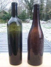2 bouteilles ancienne verre soufflé bordeaux chambolle musigny antique bottle