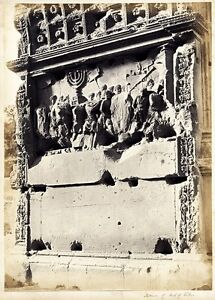 James Anderson attributed to Rome Titus arch Extralarge vint. albumen photo 1870