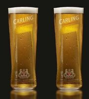 Carling Pint Glasses CE 20oz / 568ml - Set of 2 | Branded Beer Glass Brand New