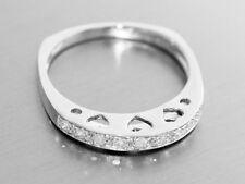 Ring Weißgold 585, Weissgoldring 14 karat mit 9 Brillanten, Damenring, Herz
