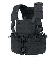 CONDOR cs-002 MOLLE Modular Chest Set Tactical Nylon Mag Holder Vest Rig  BLACK