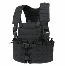 CONDOR cs-002 MOLLE Modular Chest Set Tactical Nylon Mag Holder Vest Rig  BLACK