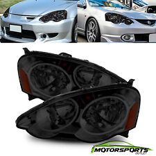For 2002-2004 Acura RSX Type S DC5 Amber Reflector Crystal Chrome Headlights Set