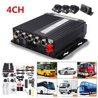 4CH Car DVR 4G GPS Antenna Realtime Video Recorder Remote+4 Waterproof HD Camera