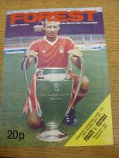 19/09/1979 Nottingham Forest v Oesters [European Cup] (Token Removed, Creased).