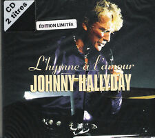 "JOHNNY HALLYDAY: CD SINGLE DIJIPACK 2 TITRES  ""L'HYMNE A L'AMOUR"""