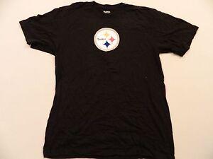 M28 New Reebok Pittsburgh Steelers Ben Roethlisber Men's Black Jersey T Shirt L