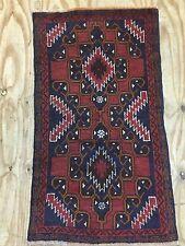 Vintage PERSIAN 140/80 Cm ORIENTAL RUG CARPET Baluch Afghan Handmade