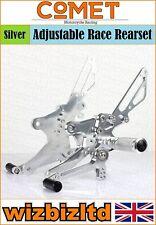 Comet Silver Adjustable Rearset Honda CB1000 R 2008< RSHO12CH