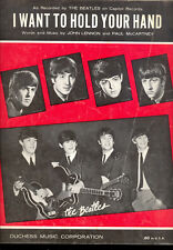 "THE BEATLES Sheet Music ""I Want To Hold Your Hand"" 1963"