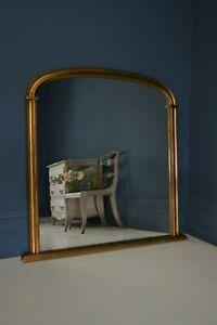 Large Vintage Gold Overmantle Mirror