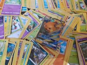100 GENUINE RANDOM POKEMON CARDS BUNDLE INCLUDES RARES, HOLOS AND GX OR V CARD
