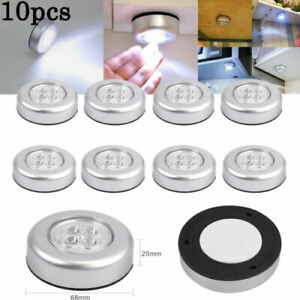 10X4LED Touch Push Button Light Self-Stick ECO Long Battery Life Down Spot Light