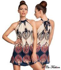 Markenlose Mini-Damenkleider mit Neckholder für die Freizeit